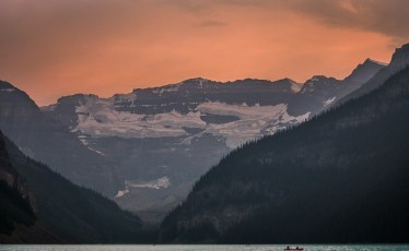 BC Wildfire Smoke at Lake Louise