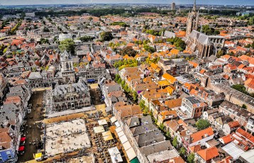"View of Delft from the ""New Church"" tower."