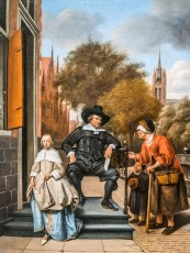 "Jan Steen's ""The Burgomaster of Delft and his Daughter"""