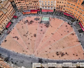 Piazza del Campo from the Torre del Mangia