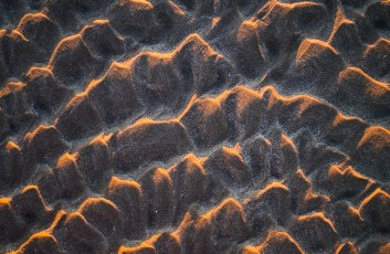 Sand Ripples at Sunset