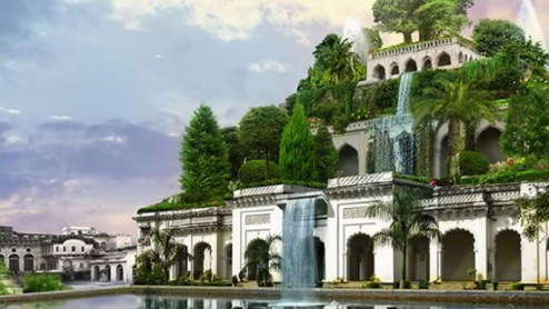 Hanging Gardens of Babylon wonderside