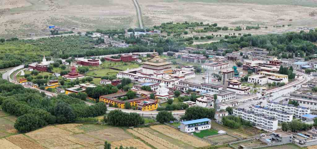Aerial view on Samye Monastery in Tibet