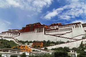 View on the Potala Palace from the inside of the complex