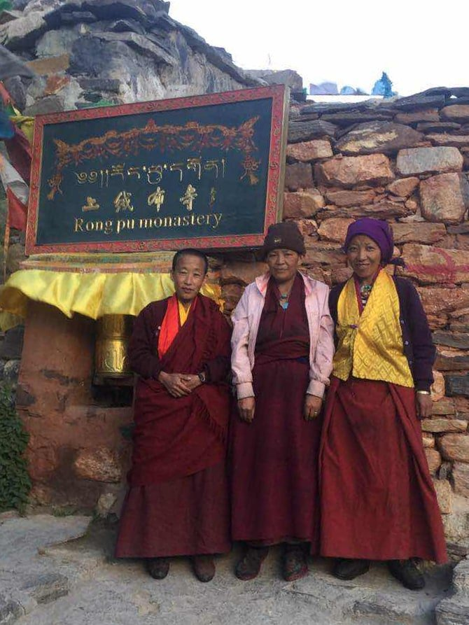 Nuns at the Ringbuk Monastery in Tibet
