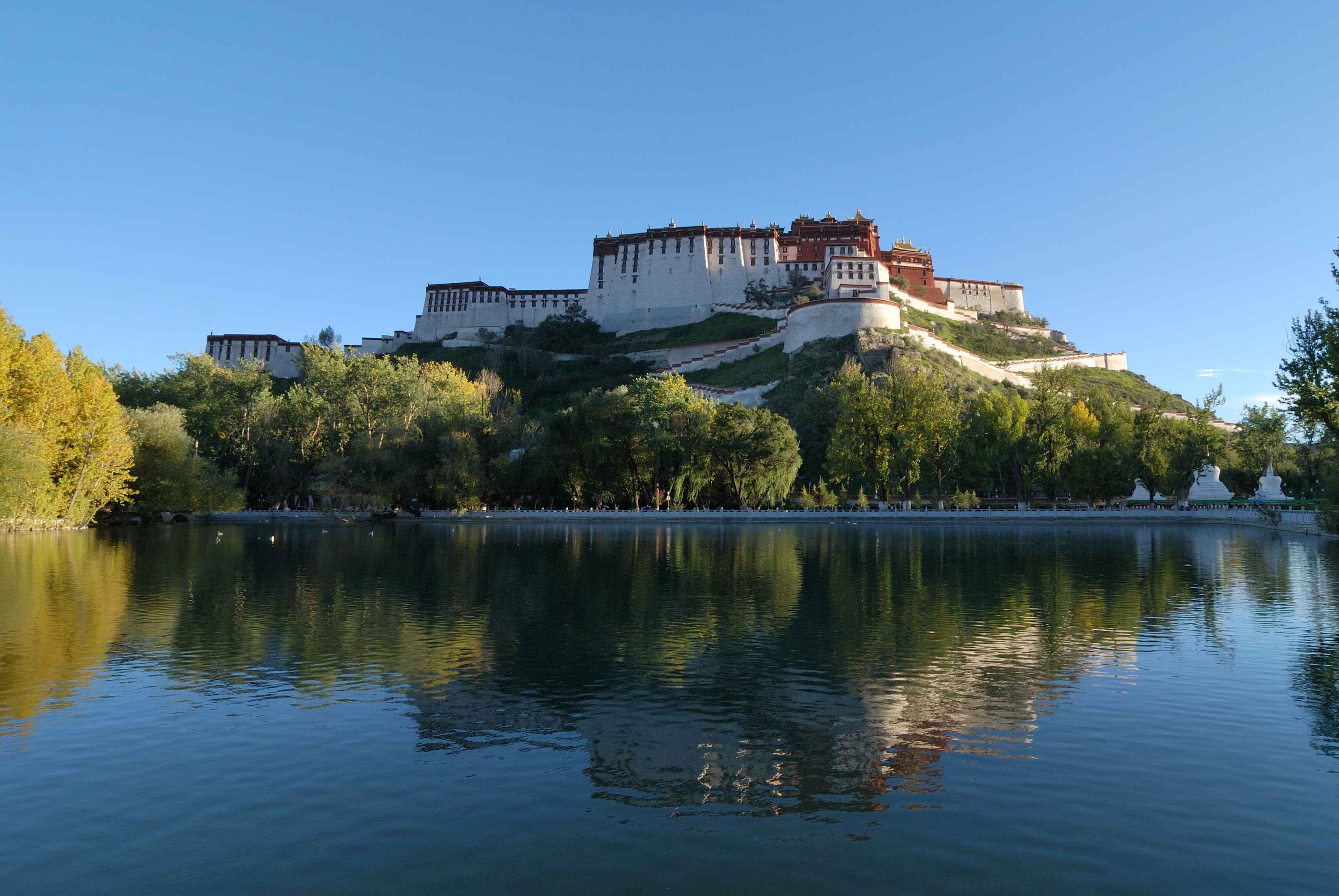 Park behind the Potala Palace