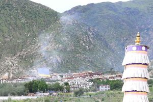 View on Drepung Monastery from Protectors Chapel