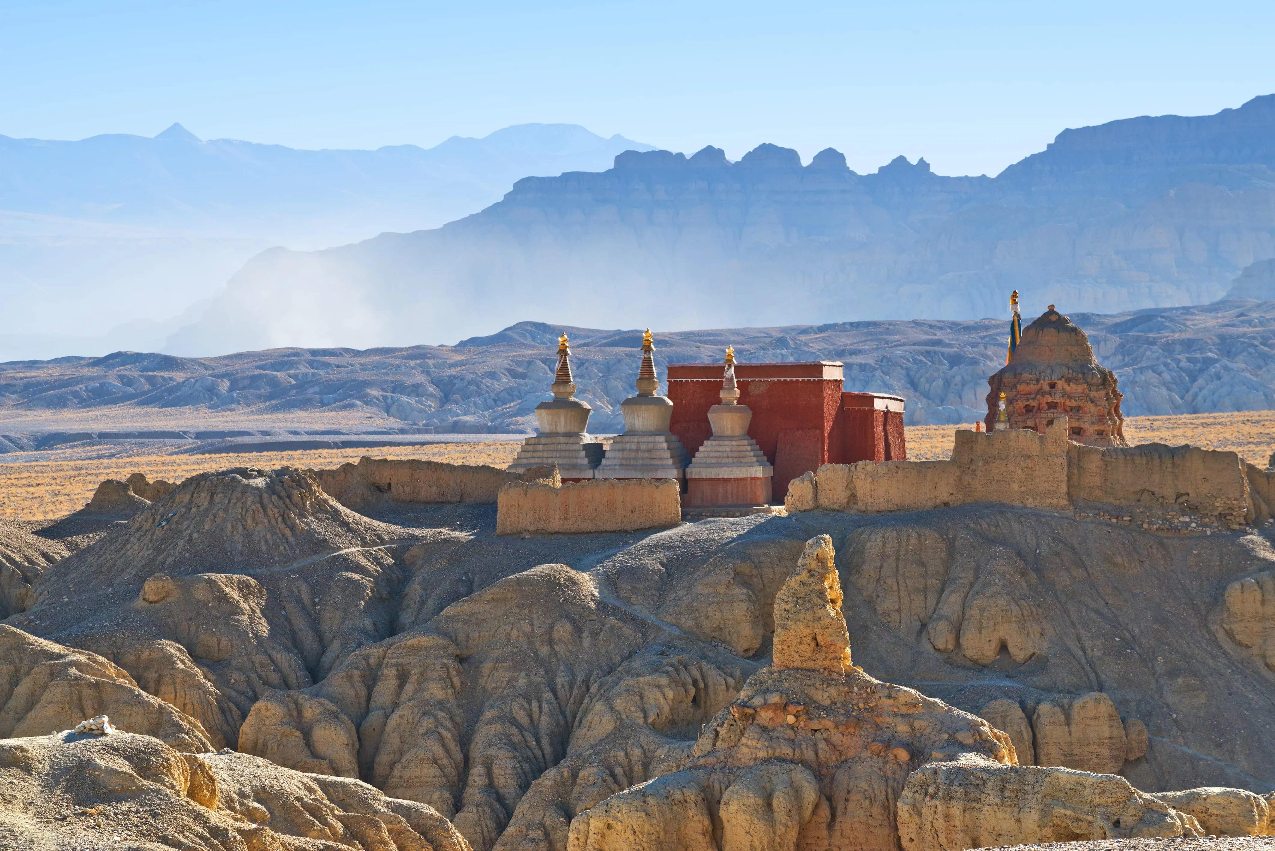 Canyon of Sutlej river in Ngari, Western Tibet