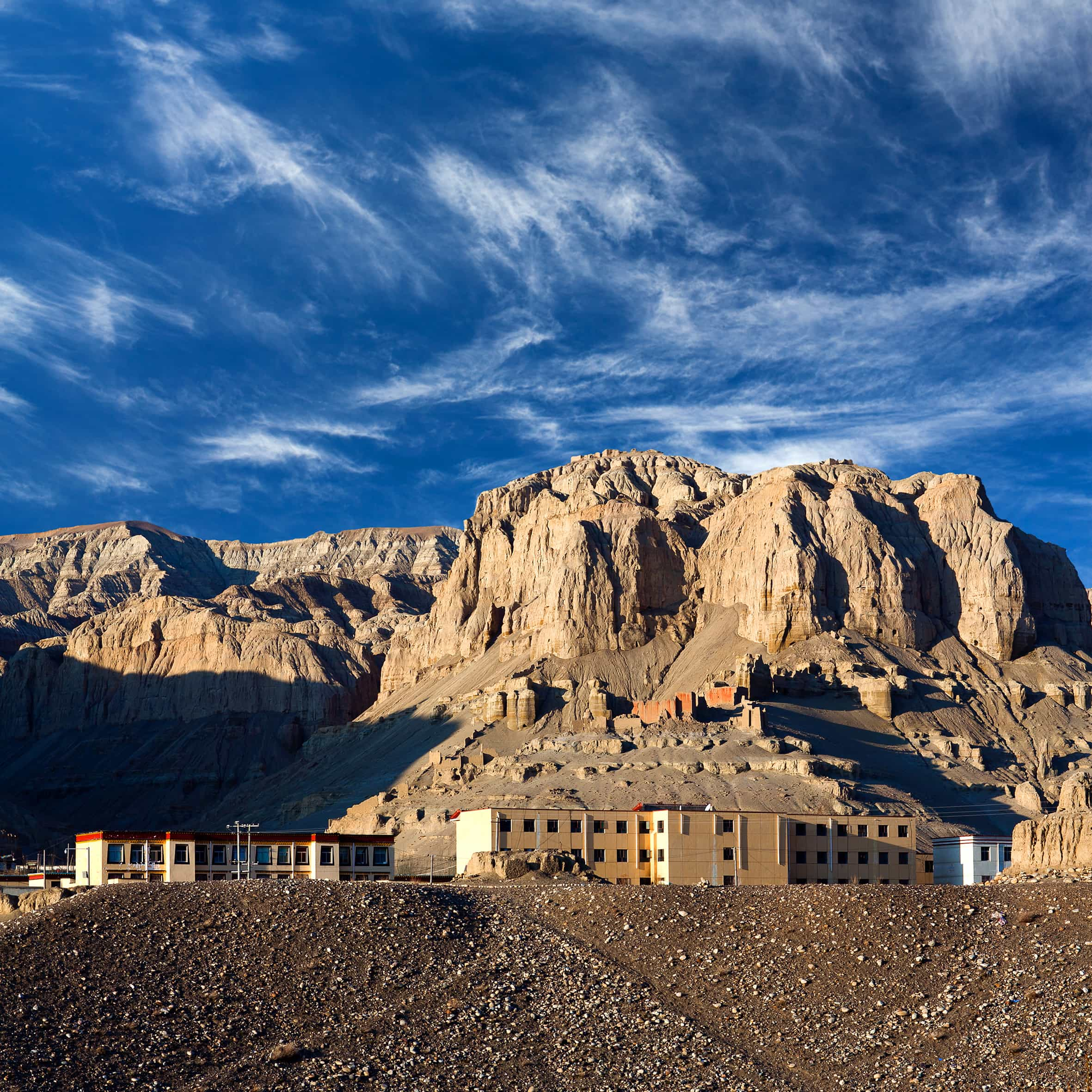 View on the settlement Zhada in Ngari Western Tibet