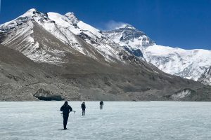 Trekking from Everest base camp to Advanced camp in Tibet
