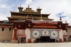 Assembly hall in Samye monastery in Tibet
