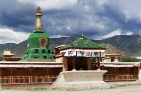 Green stupa in Samye monastery