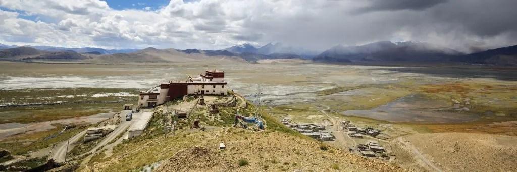 Samding Monastery near the Yamdrok Lake in Tibet