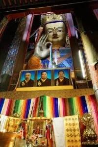 Maitreya or Future Buddha statue in Tashi Lhunpo, Shigatse, Tibet