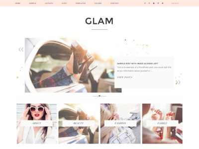 Glam Pro WordPress Theme