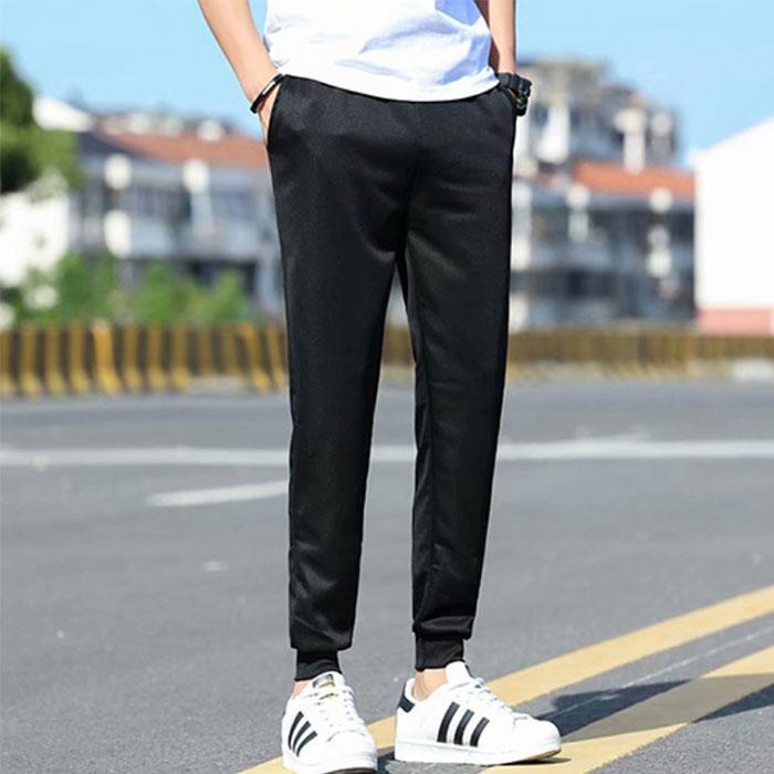 透氣薄款鬆緊腰運動褲