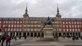 Una fría tarde en Plaza Mayor, Madrid