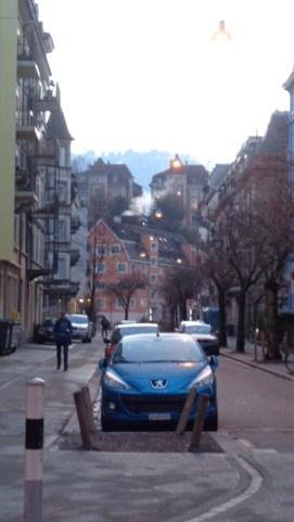 Un paisaje urbano en Zurich