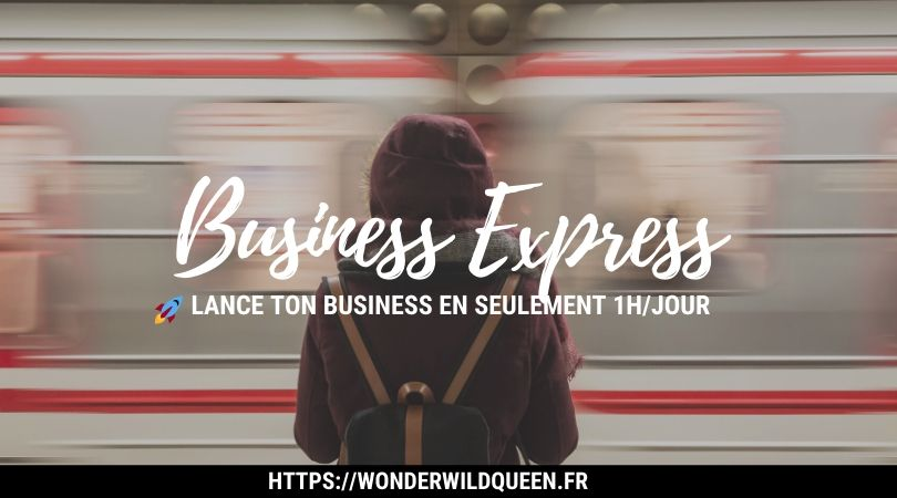 """🚅 Ne rate pas le """"Business Express"""" qui te permettra de lancer ton business en 1h/jour 🚀"""