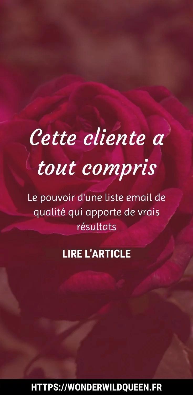 cette cliente a tout compris #email #liste #blog