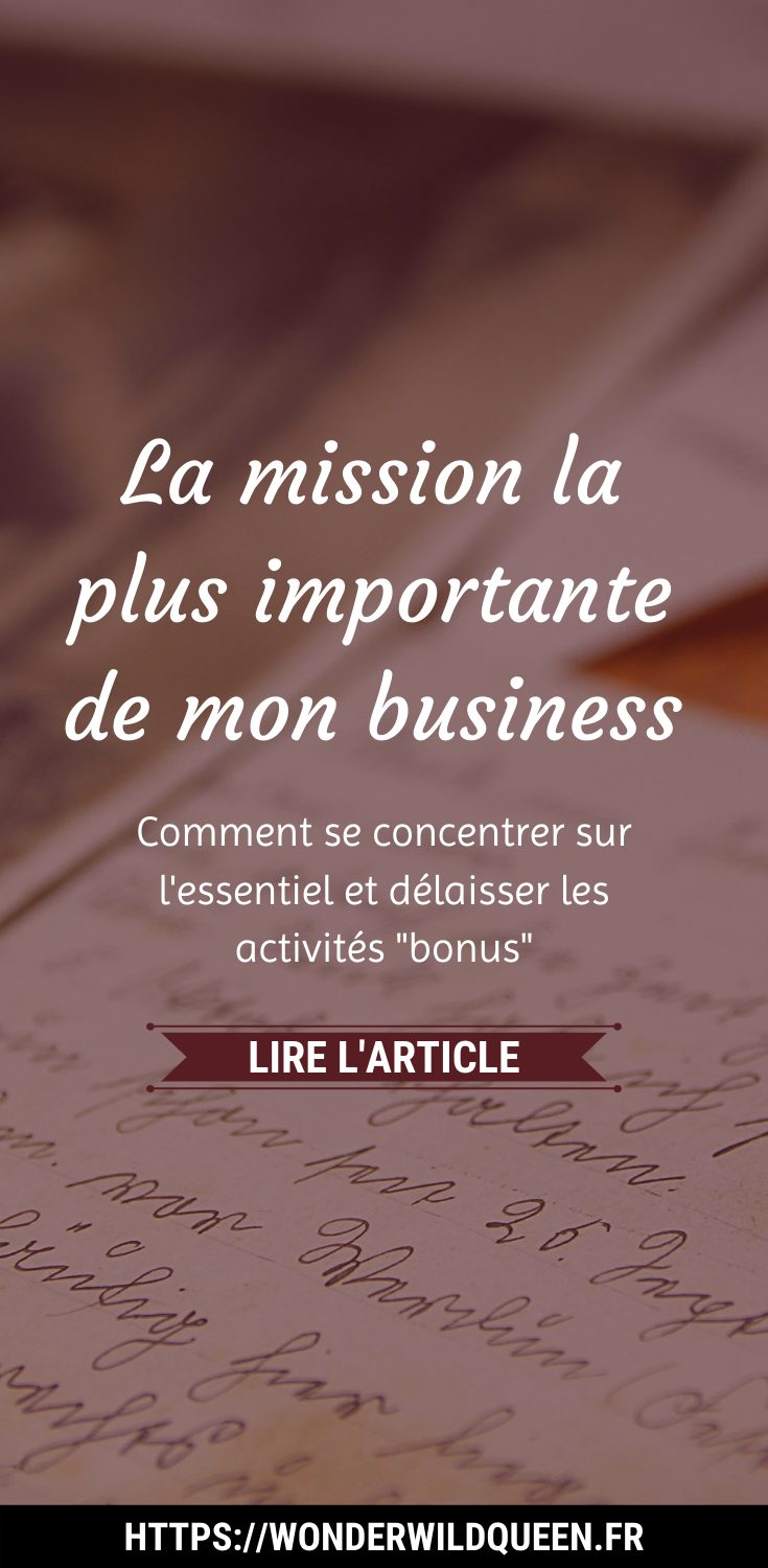 la mission la plus importante de mon business #contenu #article #idee