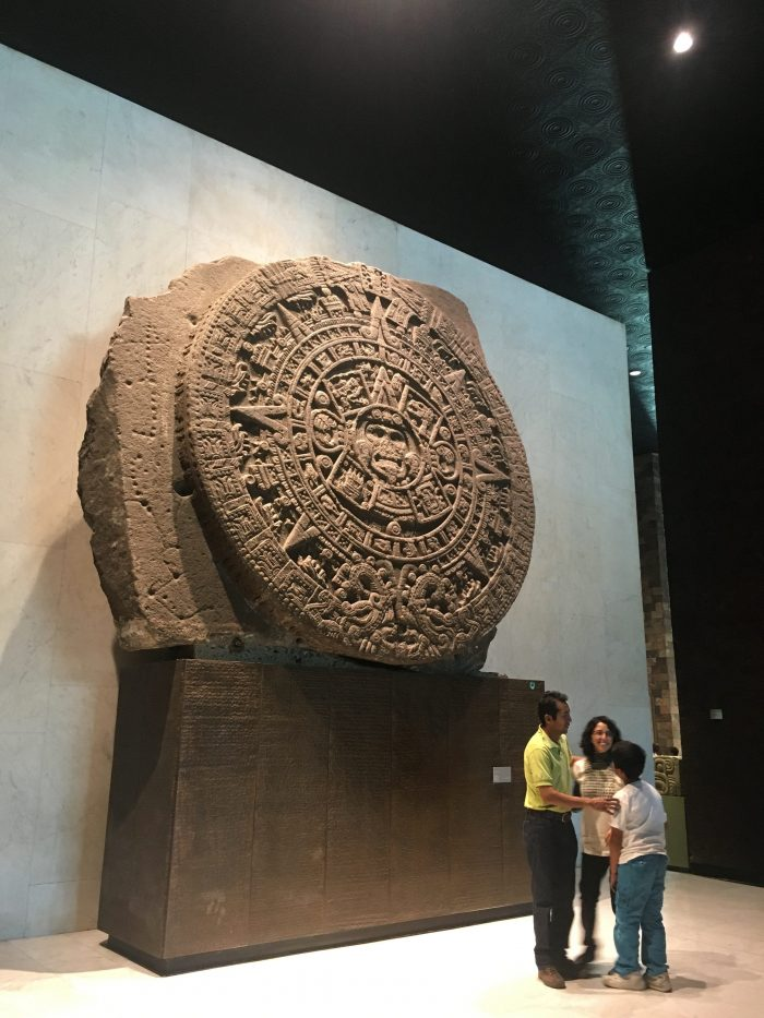 Aztec Sunstone in the Anthropology Museum in Mexico City