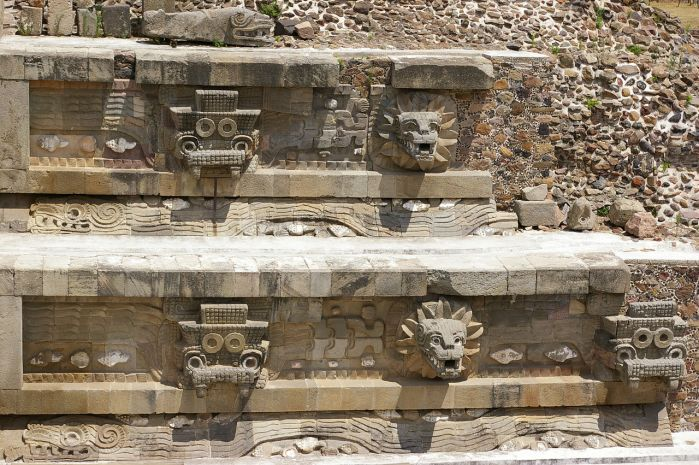 Temple of the Feathered Serpent Quetzalcoatl