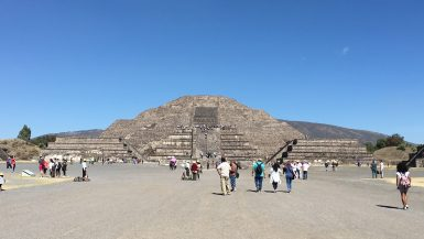 Pyramid of the Moon down the Avenue of the Dead