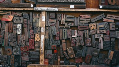 Wood Type Tray at The Old Printing Shop - Portobello Road Market