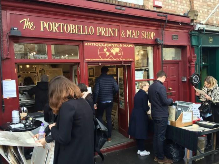 Portobello Map Shop, Portobello Road, Notting Hill, London