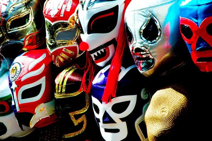 Wall of Luchador masks