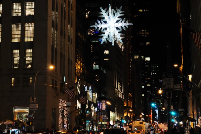 UNICEF Swarovski Crystal Snowflake above 5th Avenue