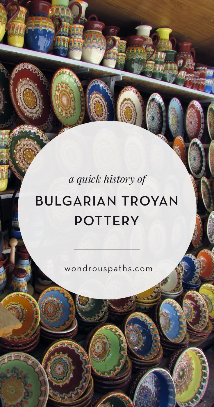 A quick history of the beautiful mandala designs of Bulgarian Troyan pottery