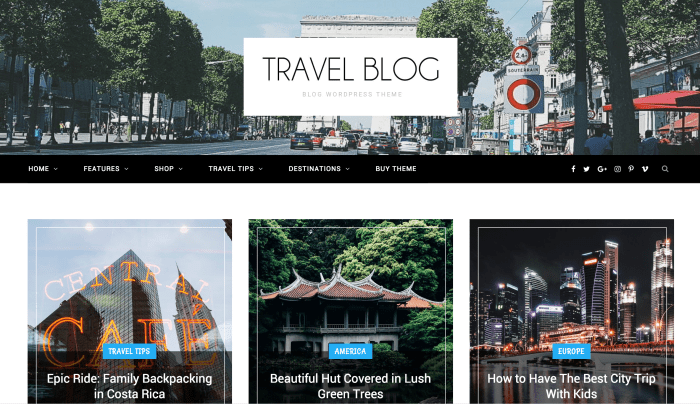 CheerUp Travel Blog Theme for WordPress