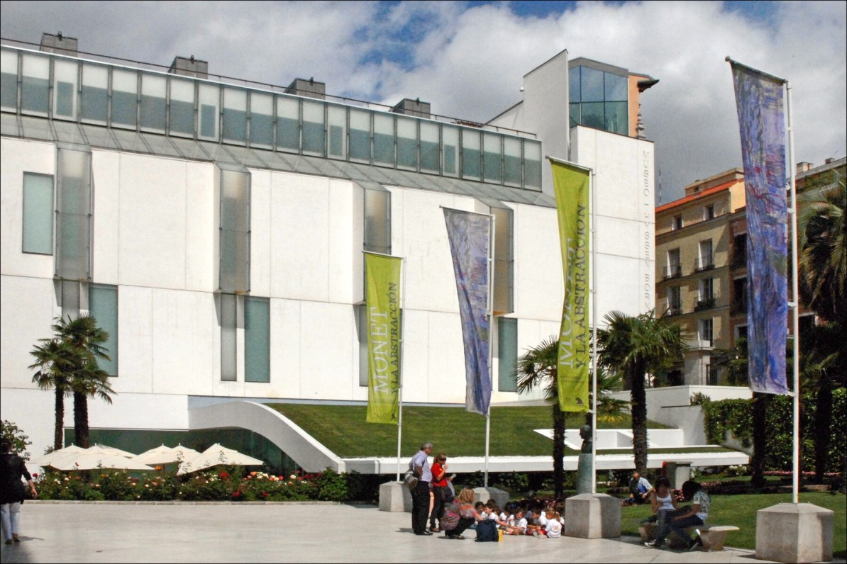 Museo Thyssen facade in Madrid