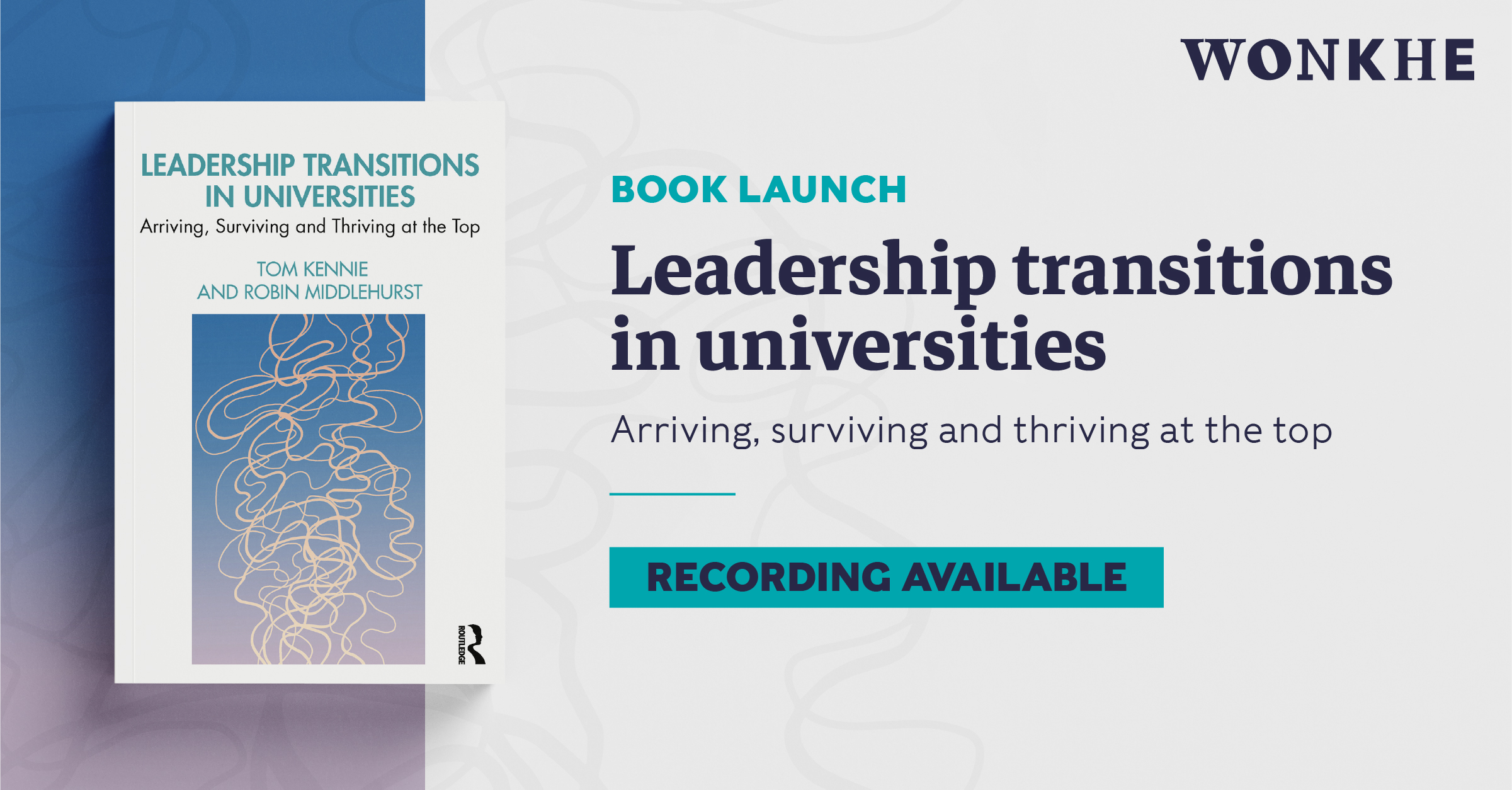 Image of Book launch: Leadership transitions in universities