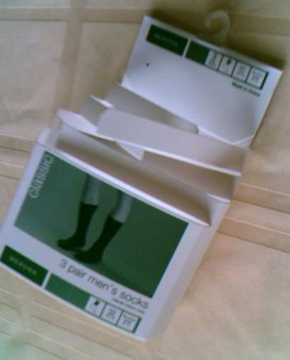 cardboard sock packaging