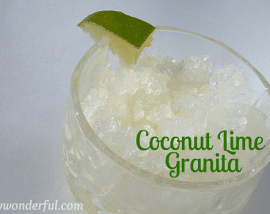 Coconut Lime Granita