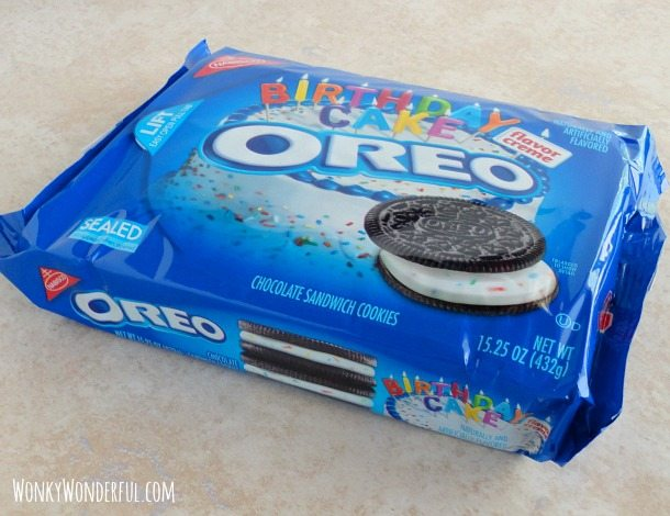 package of birthday cake Oreos