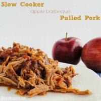 Slow Cooker Apple Barbeque Pulled Pork