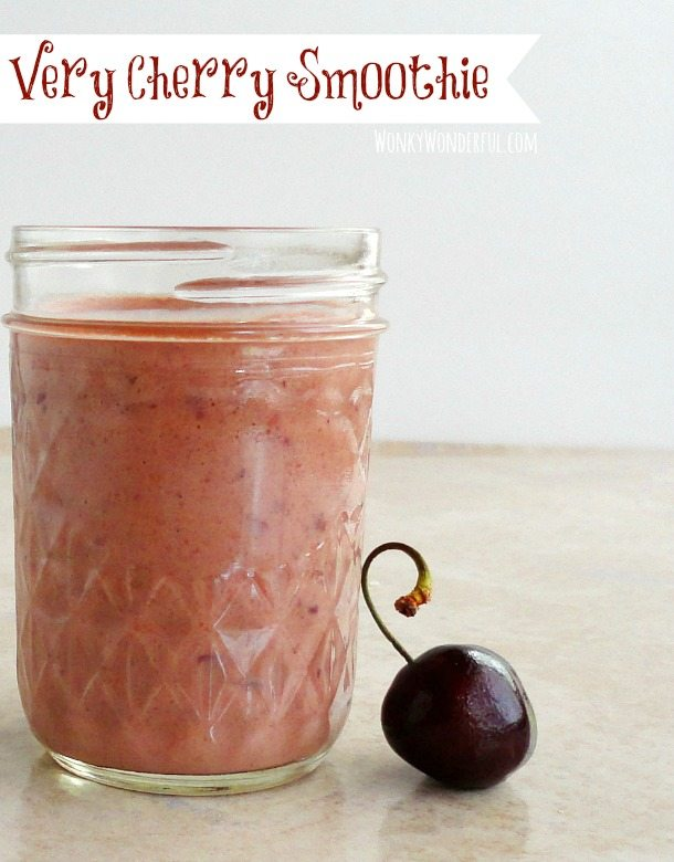 Very Cherry Smoothie - a simple, healthy and delicious smoothie!