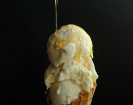 Honey Ricotta Ice Cream ::: wonkywonderful.com