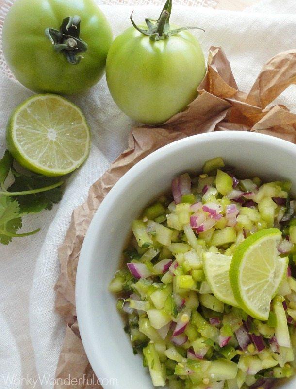 Green Tomato Salsa Verde Recipe ::: wonkywonderful.com