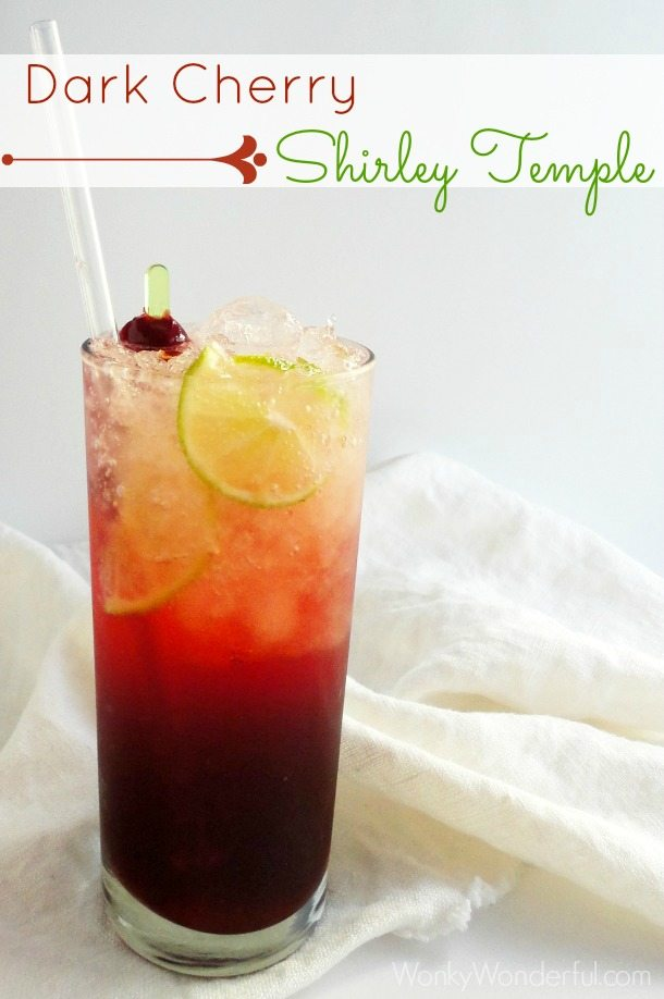 Dark Cherry Shirley Temple Drink Recipe