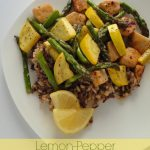 Lemon Pepper Chicken and Asparagus over Wild Rice ::: wonkywonderful.com #shop