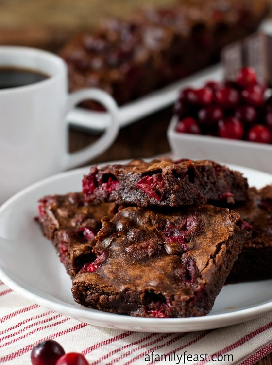 Cranberry Brownies - Thanksgiving Menu