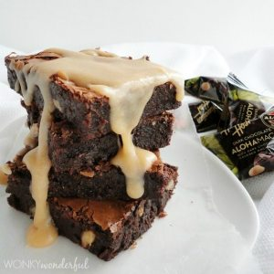 Brown Butter Glazed Dark Chocolate Brownies - wonkywonderful.com