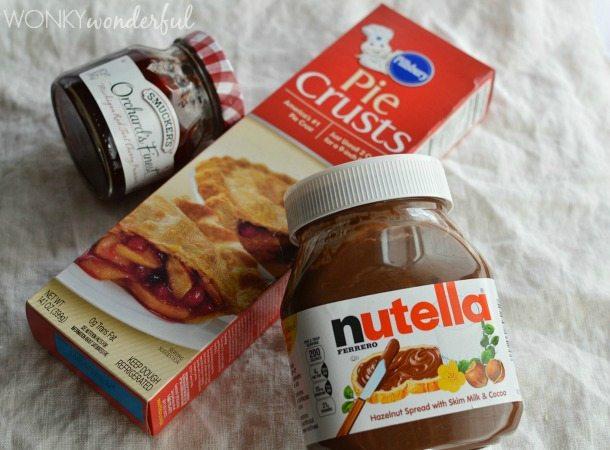 Nutella and Cherry Hand Pies - WonkyWonderful