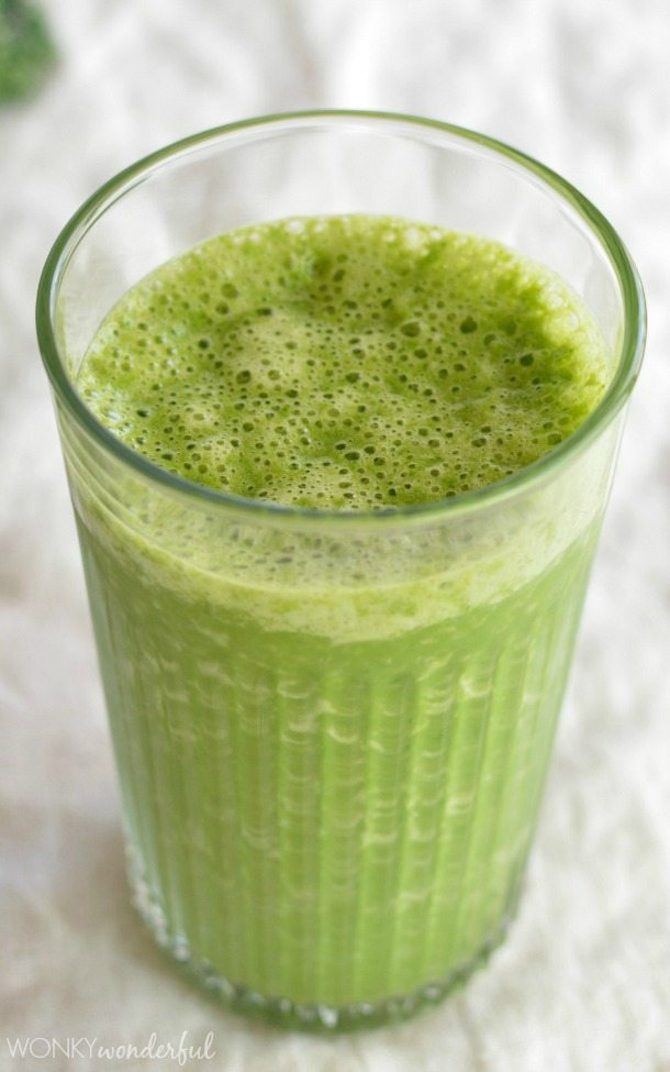 green drink in clear glass