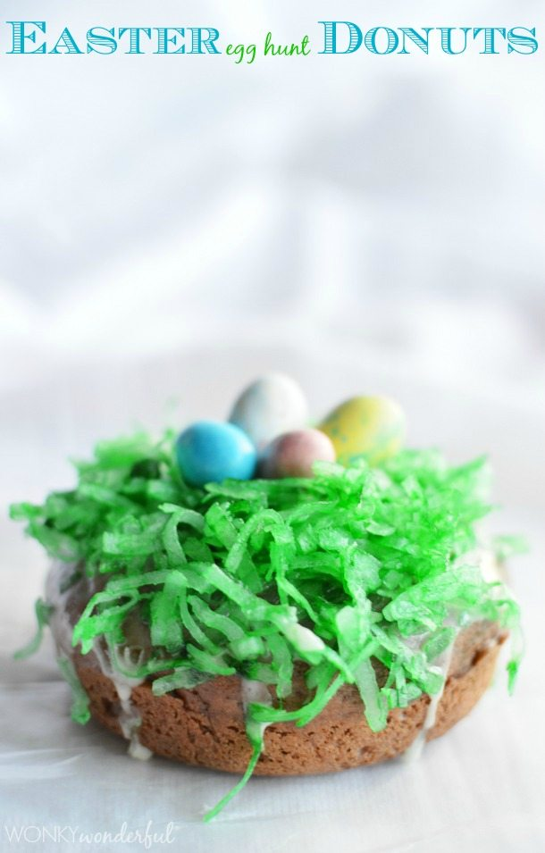 Easter Breakfast Idea - Baked Easter Donuts - Donut Recipe - wonkywonderful.com